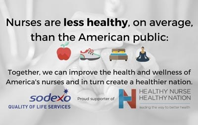 Together we can improve the health and wellness of America's nurses and in turn create a healthier nation