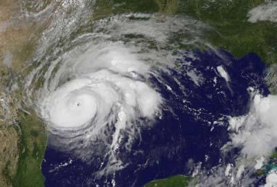 hurricane harvey satellite view