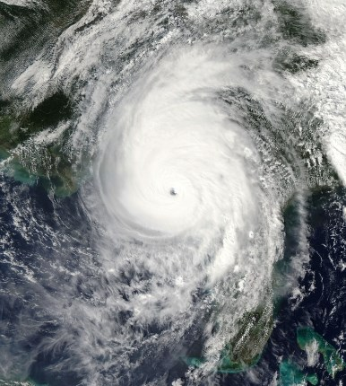 hurricane michael satellite view