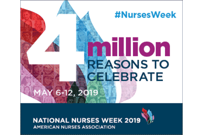 National Nurses week, May 6-12, 2019