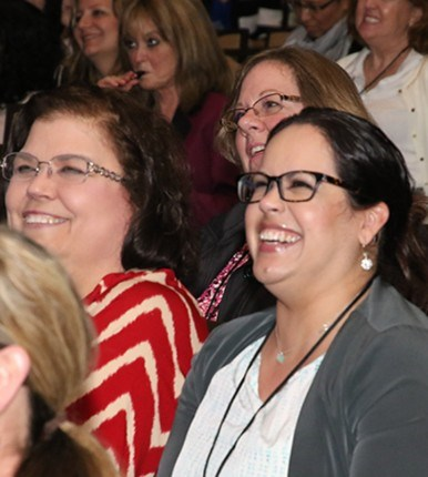 nurses in the audience at a conference